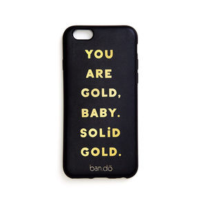 BAN.DO YOU ARE GOLD BABY SOLID GOLD IPHONE 7 CASE